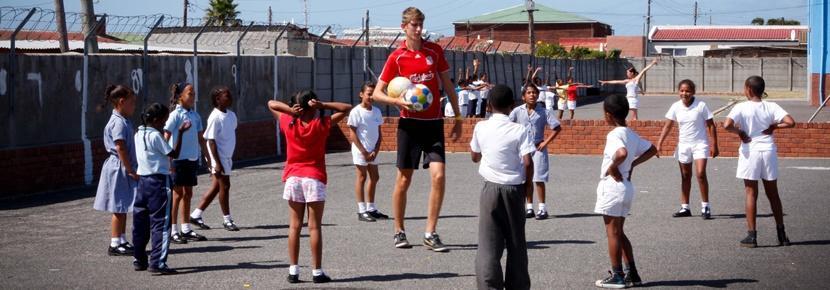 Frivillig underviser i idræt i Sydafrika