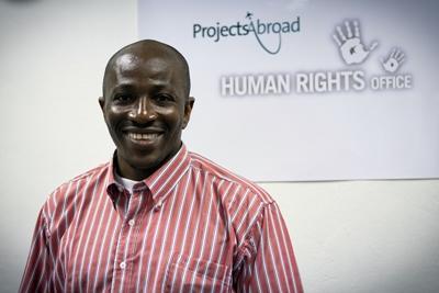 En af vores ansatte på menneskerettighedskontoret i Cape Town
