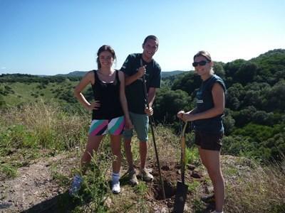 Frivillige planter træer i Argentina