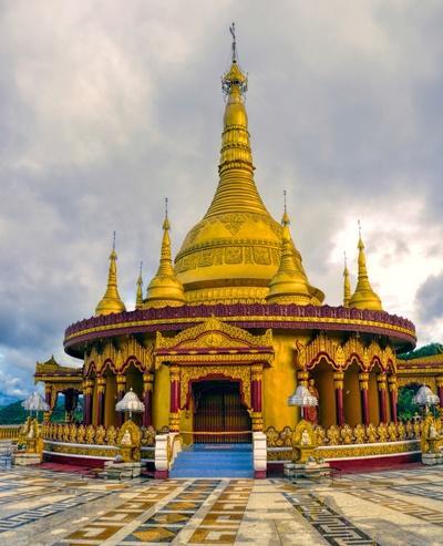 Smukt tempel i Bangladesh