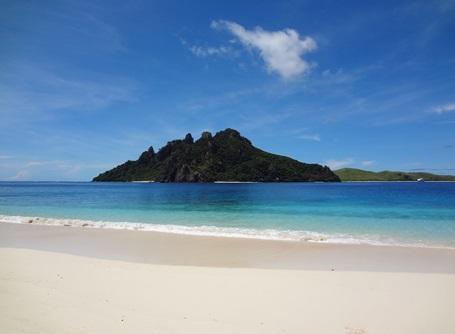Paradisstrand i Fiji