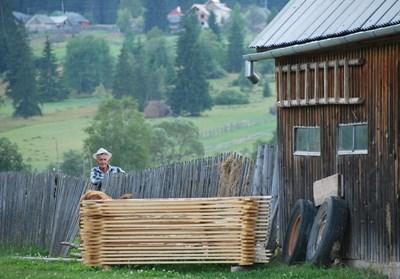 Gammel mand fra en landsby