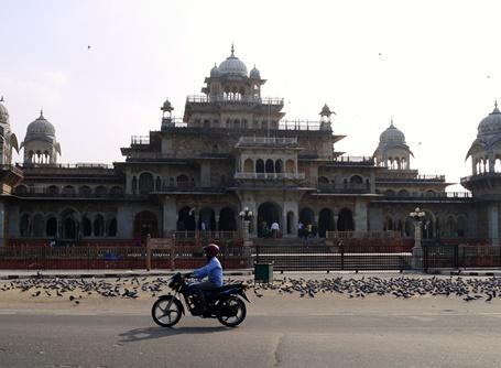 Der er smukke bygninger i Jaipur