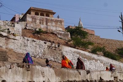 Gammelt tempel i Jaipur