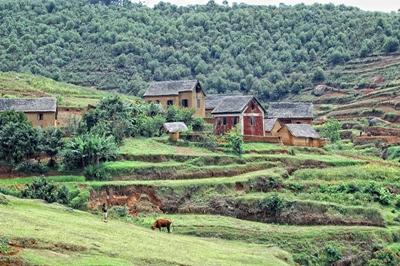 Lokalsamfundet i smukke Madagaskar