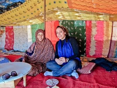 Frivillig på besøg i marrokansk hjem