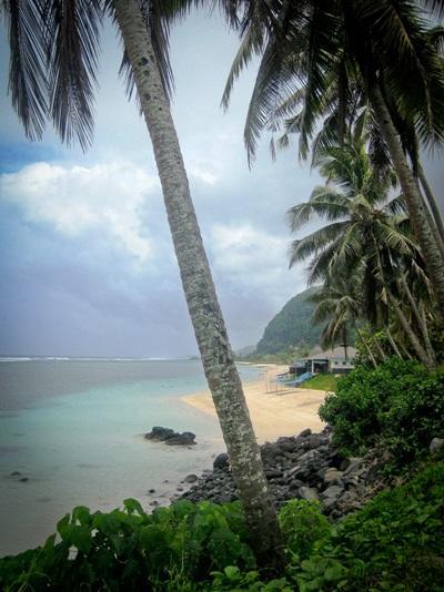 Strand i Samoa