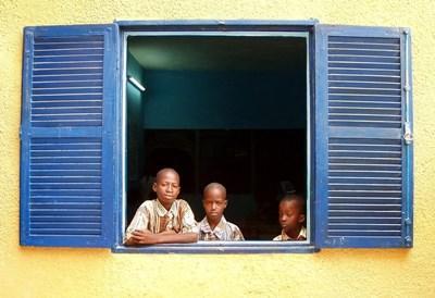 Lokale børn i Senegal