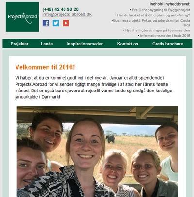 Få sidste nyt om lande og projekter i det danske nyhedsbrev.