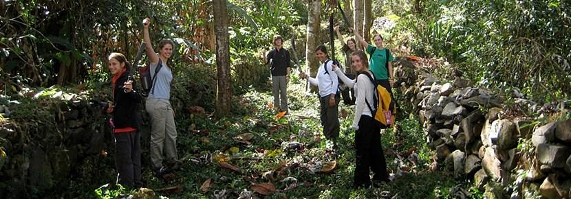 Frivillige på arkæologiprojektet I Peru