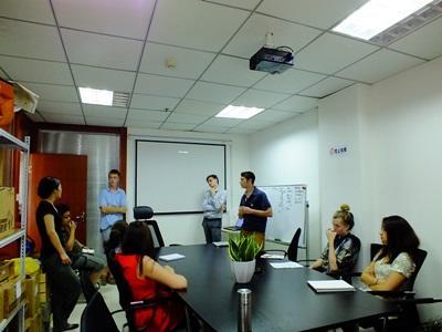 Møde på et business-projekt i Kina