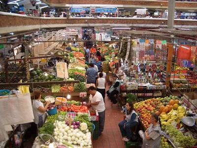 Lokalt marked i Guadalajara i Mexico