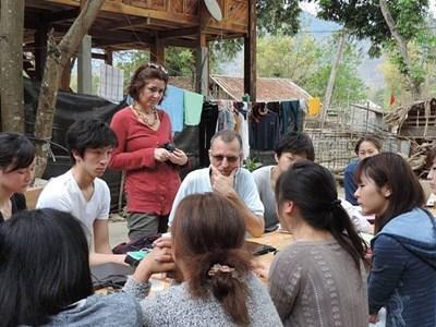 Frivillige på kultur-projektet i det nordlige Vietnam