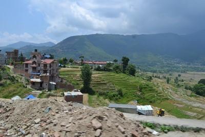 Landsbyen Bungamati i Nepal efter jordskælvet