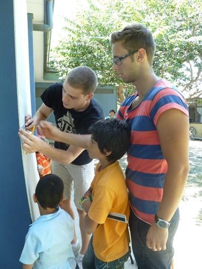 Frivillige på humanitært projekt i Costa Rica
