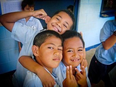 Lokale børn i Samoa