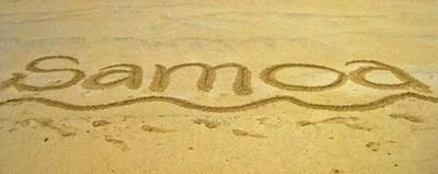 Sol, sand og vand i Samoa