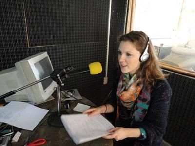 Frivillig på radiostation i Argentina