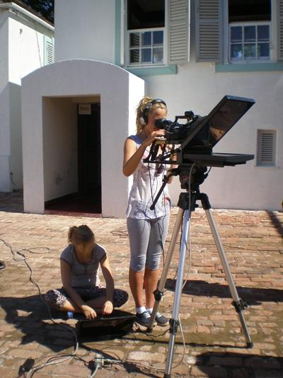 Frivillige på journalistik-projektet i Jamaica