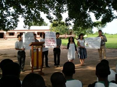 Oplysning om menneskerettigheder i lokalsamfund i Ghana