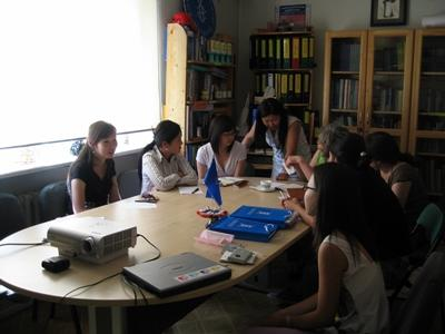 Volunteers and the staff at the Law placement in Mongolia