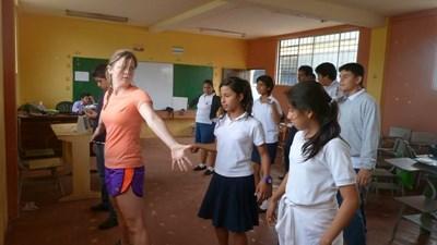 Danseundervisning på Galapagos