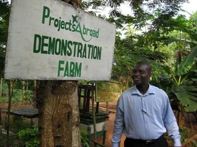 Arbejd med bæredygtigt landbrug i Ghana