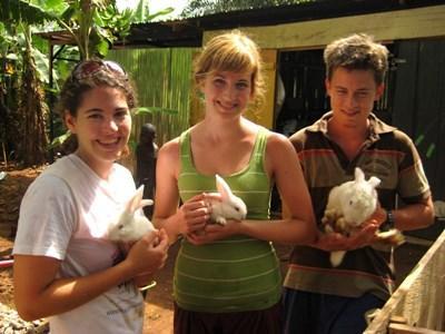 Frivillige på vores landbrugsprojekt i Ghana