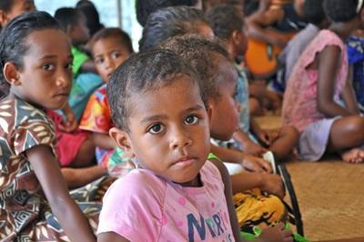 Lokale børn i Fiji