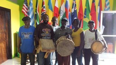 Gruppebillede af jamaicanske musikere