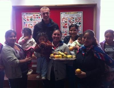 Frivillig på ernæringsprojektet i Peru