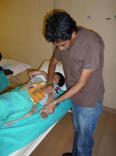 Frivillig i MExico med patient
