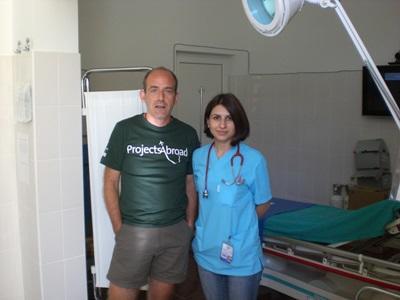 Frivillig og fysioterapeut i Rumænien
