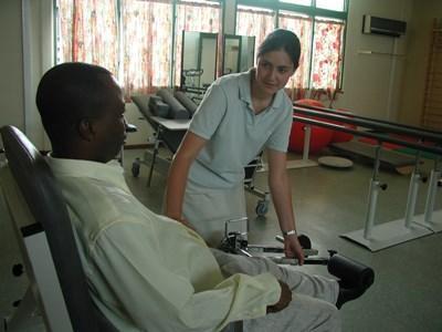 Frivillig på projekt inden for fysioterapi i Togo