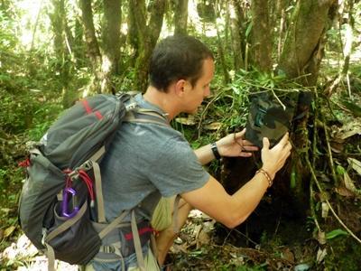Arbejdspladsen på naturbevaringsprojektet i Nepal