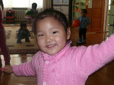 Stemningsbillede fra børnehave i Mongoliet