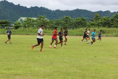 Rugby træning på Samoa