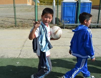 Lokale børn til træning