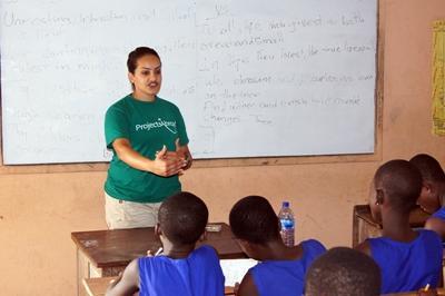 Der bliver undervist engelsk og fransk i Madagaskar
