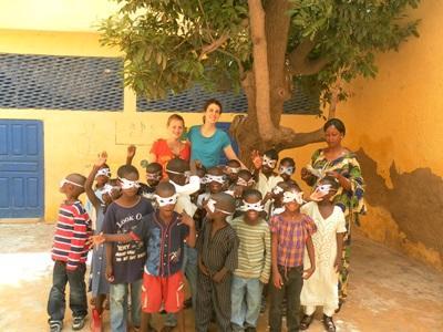 Frivillige på undervisningsprojekt i Senegal