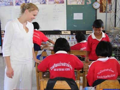 Frivillig på undervisningsprojekt i Thailand