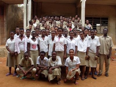 Elever fra en af vores samarbejdsskoler i Togo