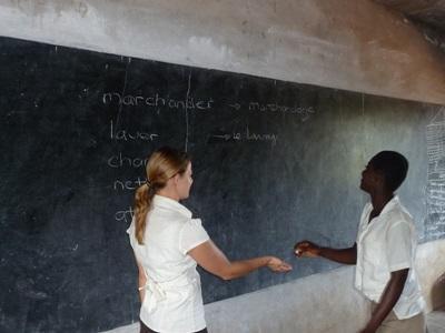 Frivillig underviser i fransk i Togo