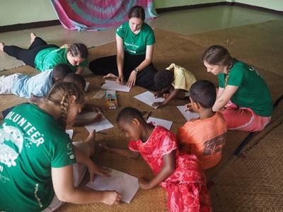 Grupperejse med frivilligt arbejde i Fiji
