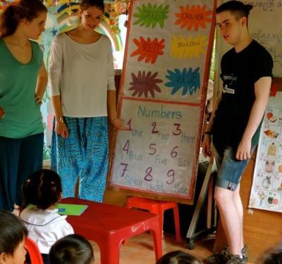 Grupperejse med humanitært arbejde i Cambodja