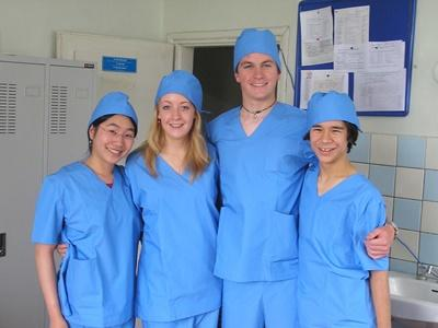Frivillige på hospital i Mongoliet