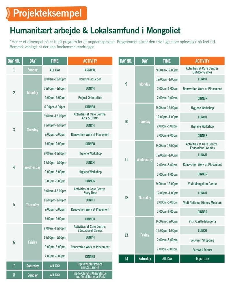 Humanitært arbejde & Lokalsamfund i Mongoliet - Program for 2 uger